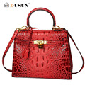 DUSUN Women Bag Crocodile Pattern leather handbags Fashion Women's Shoulder Diagonal Handbag Luxury Handbags Women Bags Designer