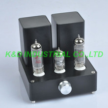 купить 1pc Black Mini Vacuum Tube AMP Audio Amplifier APPJ EL84 12AX7B Class A power Amp по цене 14519.58 рублей