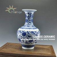 Decorated Ceramic porcelain jardiniere flower vase