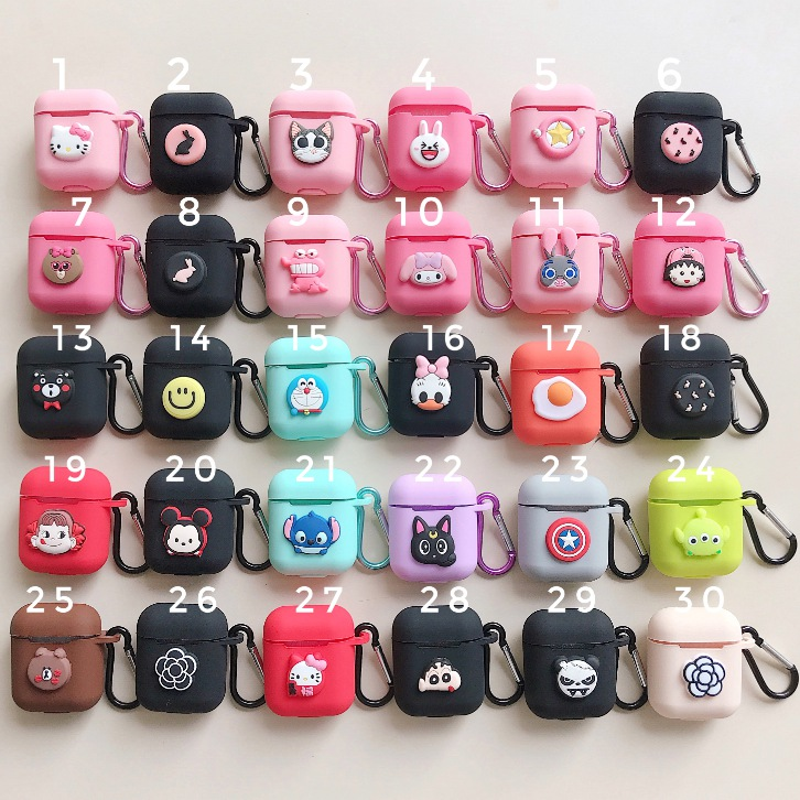 Cute Bluetooth Wireless Earphone Case For Apple AirPods TPU Silicone Charging Headphones Cases for Airpods Protective Cover