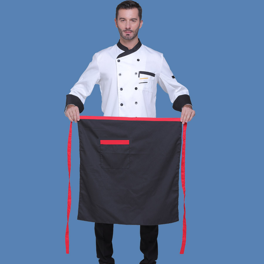 White apron in store - Hotel Restaurant Chef Apron Half Overalls Apron Waiter Coffee Kitchen Store Kitchen Apron Patterns Beautiful Aprons