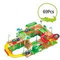 RUS Miniatura Bloques de Construcción Libre del envío Thomas Y Amigos Eléctricos Niño Montaje De Estacionamientos de Vía De Tren de Juguete Regalo de Los Niños