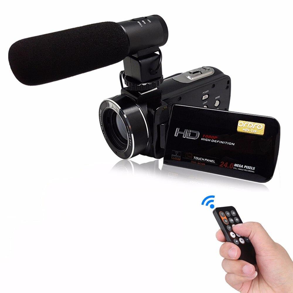 Câmera de vídeo digital de bateria de lítio compacta HDV-Z20 livre shippingRechargeable lente macro e sapata de apoio micro telefone