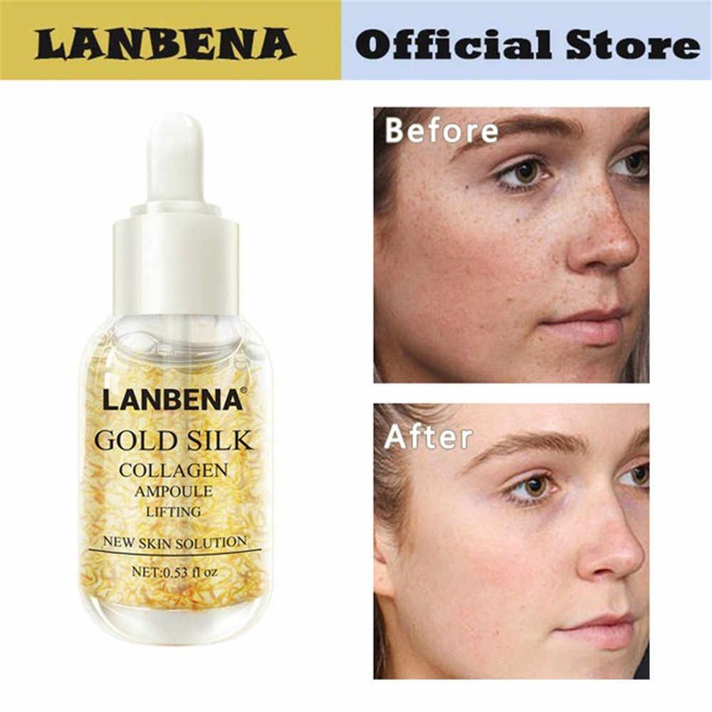 LANBENA Silk Collagen Ampoule Whitening Serum Vitamin C Essence Skin Care Hyaluronic Acid Face Cream Remover