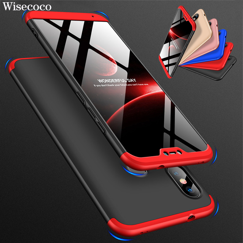 360 Degree Hard Case for <font><b>Xiaomi</b></font> <font><b>Mi</b></font> <font><b>8</b></font> Se <font><b>6</b></font> Mix Max 2 2s A2 <font><b>Lite</b></font> A1 6x 5x Redmi S2 Y2 Y1 <font><b>6</b></font> 6a Note 5 Pro Plus 5a Prime Back Cover image