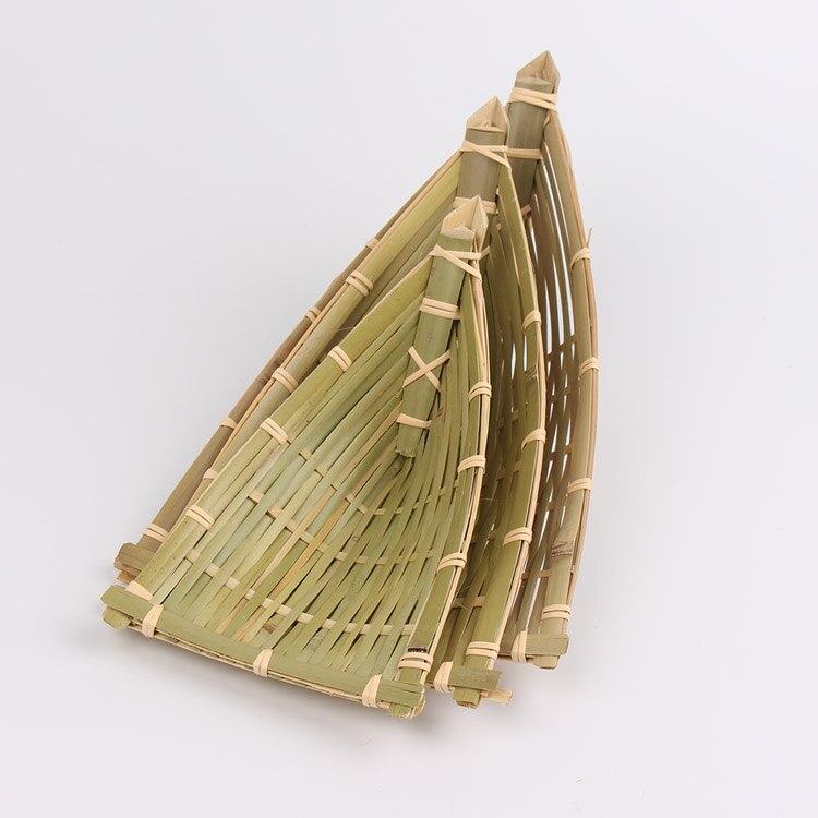 Ev Ve Bahce Ten Saklama Sepetleri De Bambu Ucgen Sepet Yemek