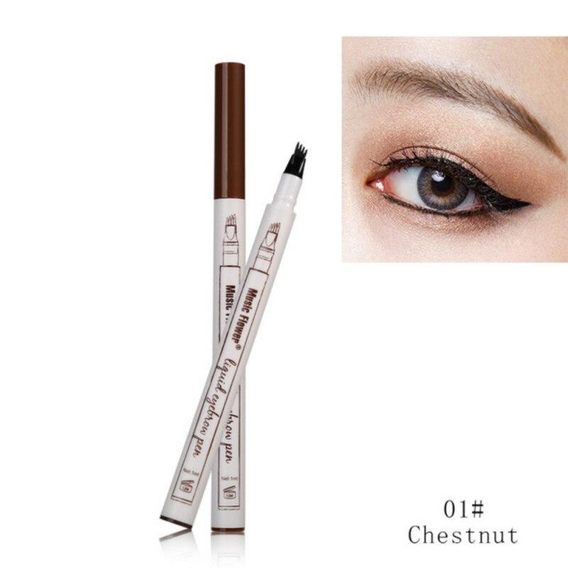 3 Colors Makeup Fine Sketch Liquid Eyebrow Pen Waterproof Tattoo Super Durable Eye Brow Pencil Smudge-proof