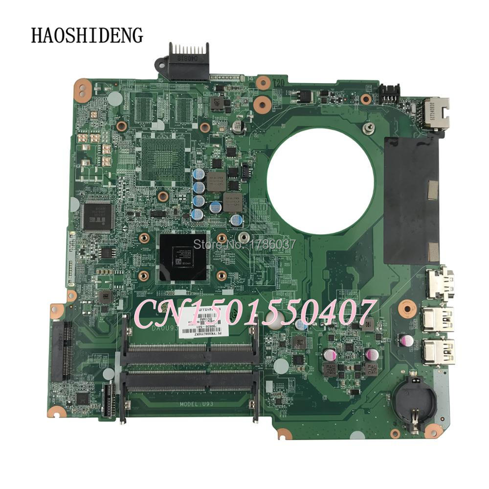 HAOSHIDENG 790630-501 U93 for HP Pavilion 15-N 15-F series Motherboard DA0U93MB6D2 790630-001 with A6-5200 cpu sheli for hp 15 15 f motherboard with n3050 cpu 828168 001 828168 601