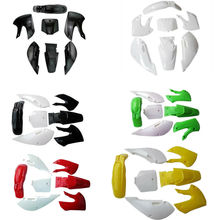 TDPRO Motorcycle Plastic Fairing Full Body Cover Kits Fenders Mudguard For Kawasaki KLX 110 KX65 DRZ110 Dirt Pit Bike 2002-2013 full fairing kits red black zzr 1100 90 93 94 95 96 97 98 99 00 01 full fairing kits for kawasaki zzr1100 zx1100 1990 2001