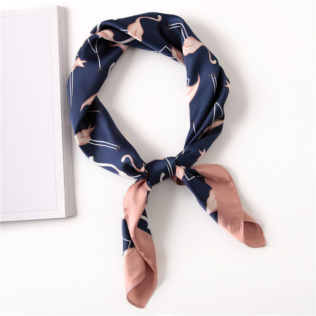 Для женщин Полосатый квадратный шарф шарфы из искусственного шелка Leopard стюардесса хозяйка дамы Офис шейный платок бандана 70x70 см