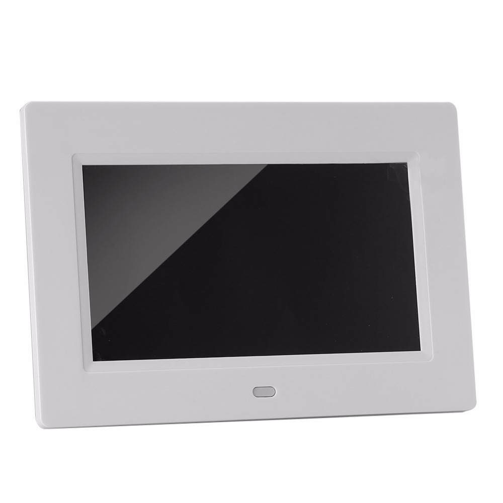 EU/US Plug 7 Inch 800 x 480 High Resolution Digital Photo Frame ...