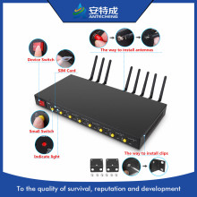 2018 newest USB interface 1U GSM modem Wavecom Q24PLUS 8 port gsm modem pool