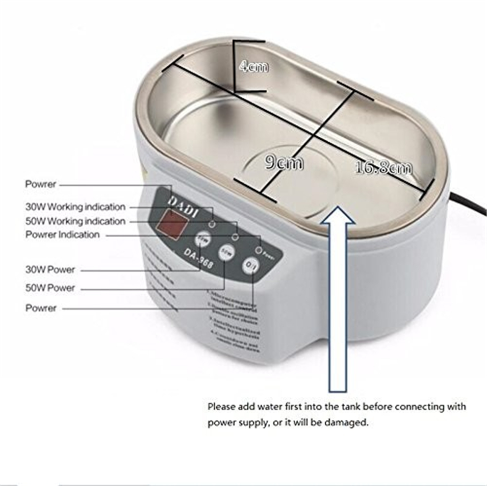 Dadi Da 968 Dual Power 30w 50w Ultrasonic Cleaner With Display 220v 110v Generator Circuit Stainless Steel Intelligent Cleaning In Tool Parts From Tools On