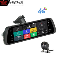 Anstar 10 Android 4G Special Rearview Mirror Camera Car DVR 1080P Dash Cam ADAS GPS WIFI Auto Cam Registrar Video Recorder