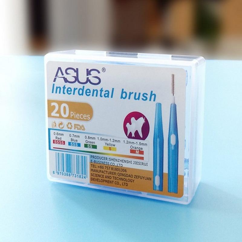 Interdental Brush Retractable Interdental Brush Orthodontics Braces Cleaning Orthodontic Toothbrush Teeth Brush 20pcs/box