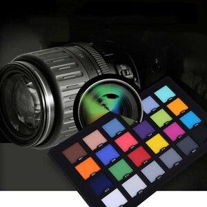 Image 2 - Tarjeta Profesional de 24 colores de prueba Tarjeta de equilibrio de Color tablero de paleta para corrección de Color Digital Superior accesorios de fotografía