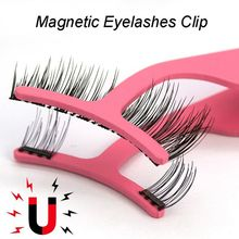 1PC Magnetic False Eyelashes Extension Applicator Stainless Steel Fake Lashes Curler Tweezers Clip Clamp Makeup Beauty Tool-in Eyelash Curler from Beauty & Health on AliExpress