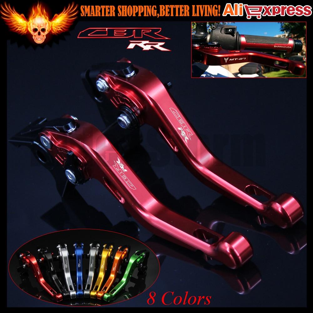 8 Colors Laser Logo (CBR RR) Red For Honda CBR900RR 1993 1994 1995 1996 1997 1998 1999 CNC Motorcycle Short Brake Clutch Levers