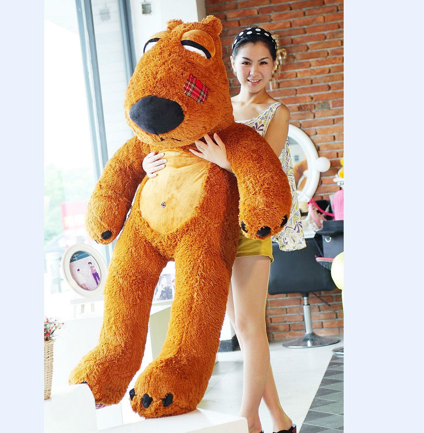 stuffed plush toy,huge 160cm brown bear soft creative bear toy throw pillow birthday gift Christmas gift h299 cheap 340cm huge giant stuffed teddy bear big large huge brown plush soft toy kid children doll girl birthday christmas gift