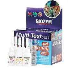 Biozym 3 ב 1 ערכת בדיקת pH NO2 NH3 NH4 רב מבחן 1 דקה מבחן סוכן חומצה בסיס פין חומצה מלח אמוניה חנקן מבחן סוכן