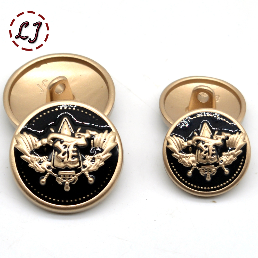 New fashion decorative button high quality gold army military star sewing buttons for sh ...