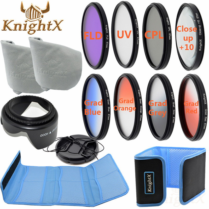 KnightX 49MM 52MM 55MM 58MM 67MM FLD UV CPL ND Line Star Filter Kit Color set For Nikon Canon t5 700d d3200 d3100 Camera DSLR