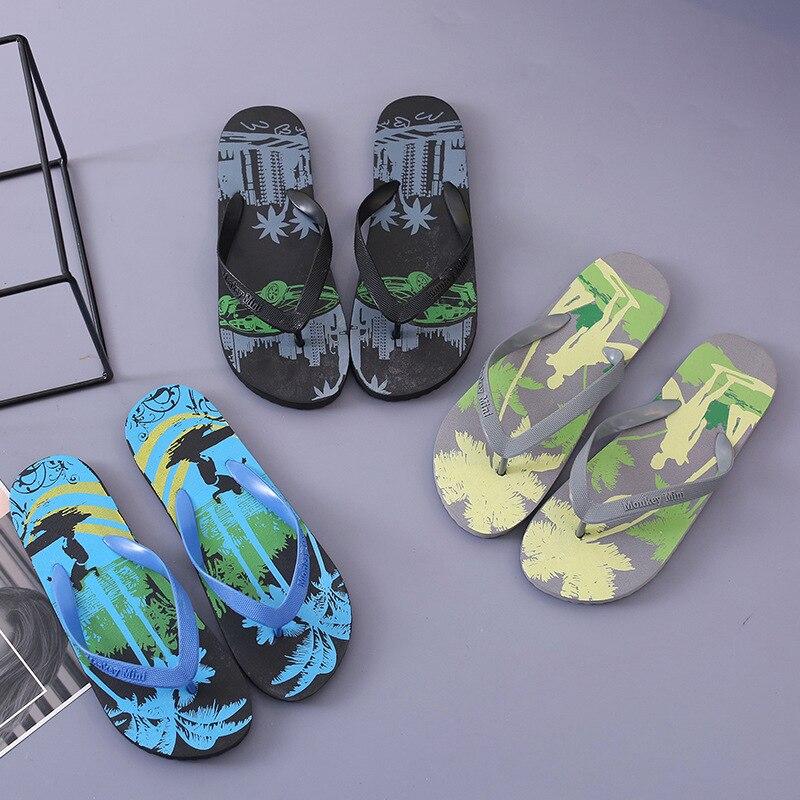 New Arrival Summer Beach Slippers Men Anti-slip Flip Flops High Quality Beach Flat Sandals Zapatos Hombre Casual Shoes