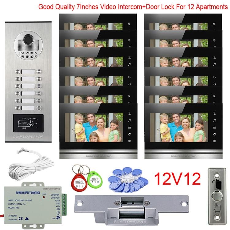 Video Door Entry Panel For Apartment 8/10/12 Multi Units Intercom Video 7