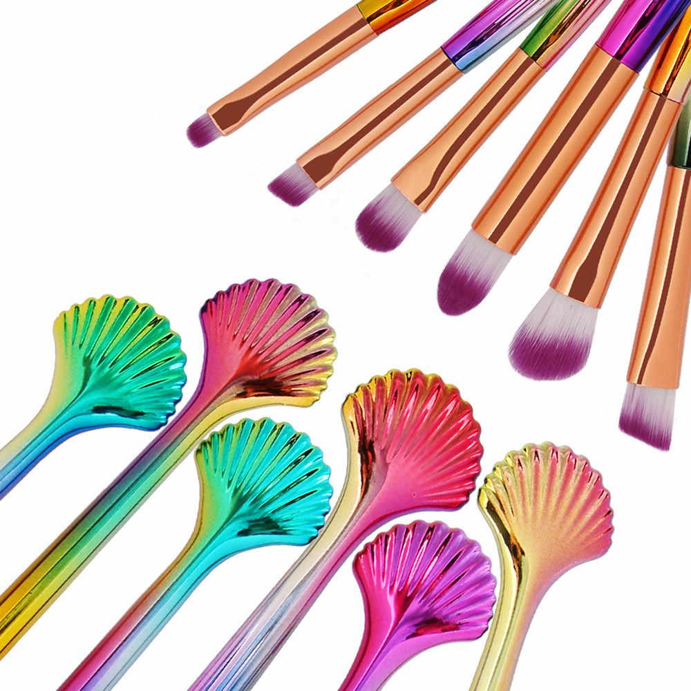 Date 6 pièces cosmétique maquillage pinceau fard à paupières ombre à paupières Contour poudre correcteur cosmétiques beauté maquillage pinceaux ensemble Kit chaud