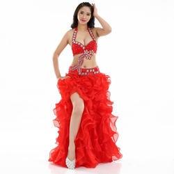 Египетский костюм для танца живота комплект со стразами бюстгальтер B/C чашки волна юбка Египетский танец живота наряды