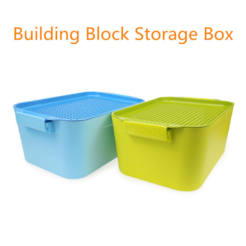 Building Blocks Storage Box Splicing And Assembling Size Granule Plastic Building Blocks Bucket Compatible With Legoings Brick