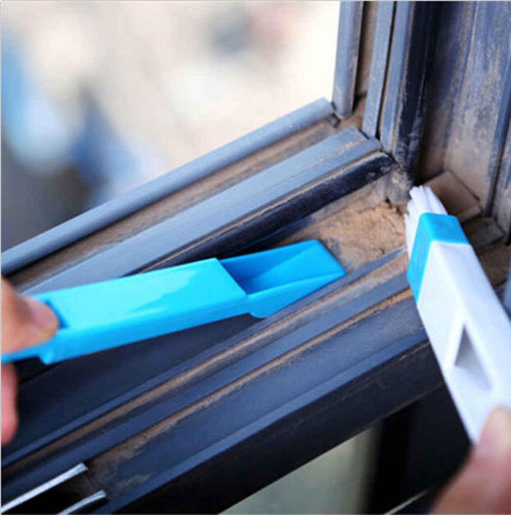 Porte fenêtre polyvalente clavier nettoyage brosse nettoyant + pelle à poussière 2 en 1 outil nouveau nettoyage brosses couleur envoyer au hasard