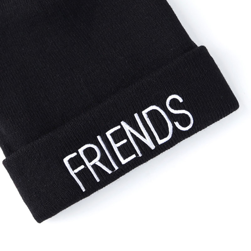 c78a0954f6b embroidery letter red black beanies for unisex best friend couple style  casual caps warm acrylic winter boy girl fashion -in Skullies   Beanies  from Apparel ...