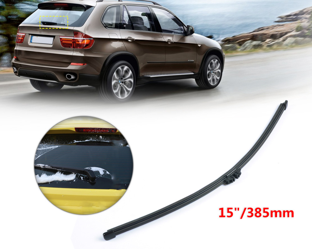 Dwcx rear wiper blade for bmw x5 e70 15 385mm soft bracketless rear