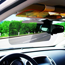 купить 2 in 1 Car Sun Visor HD Anti Sunlight Dazzling Goggle Day Night Vision Driving Mirror UV Fold Flip Down for Clear View Visor по цене 734.03 рублей