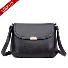 AIBKHK Hot Black Luxury Handbags Women Bags Designer Italian Genuine Leather Messenger Bag Sale Khaki Shoulder Bags for Women
