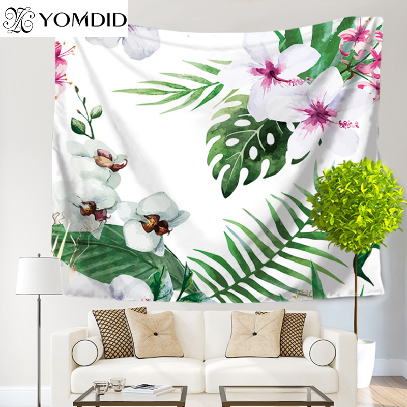 Tropical Plant Tapestry Flowers Wall Hanging Tapestries Decorative Bohemian Blanket Home Decor table Cloth Yoga Mat Beach towel|hanging tapestry|wall hanging tapestry|tapestry hanging - title=