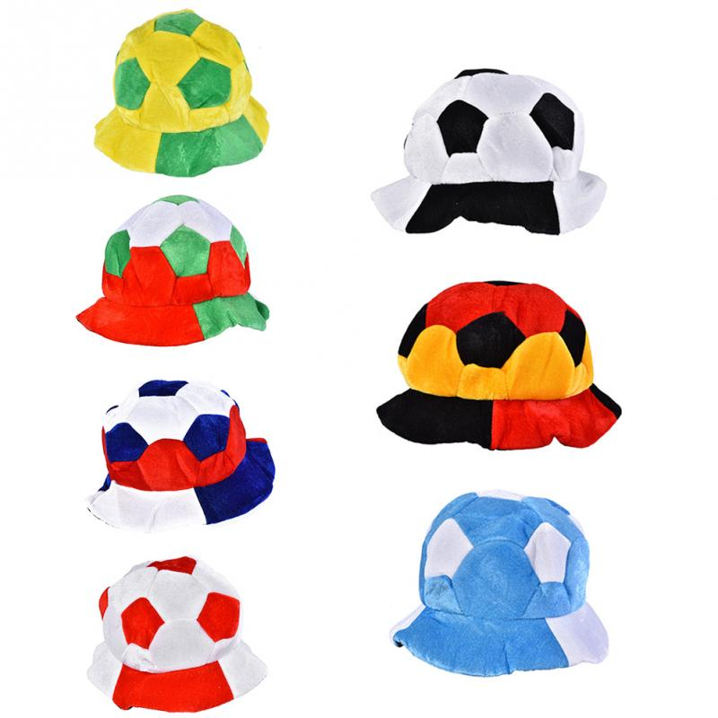 Football Games Cap Fans Party Football Shape Hat Brazil Argentina Italy England Germany France Soccer Match Cheering Hat