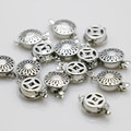 10PCS Hot wholesale Snap Button Metal Accessory Silver-plate for DIY Necklace Bracelet Machining parts Jewelry Making 12*4.6mm