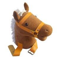 MUQGEW Happy Horse Soft Rocking Horse Plush Toy Emotional Companion Parent child Toys Stuffed & Plush Animals
