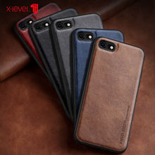 X-Niveau Leather Case Voor iPhone 8 7 6 6s Plus Gevallen Originele Luxe Ultra Licht Terug Telefoon cover Coque Voor iPhone 6 6s 7 8(China)