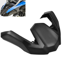BJGLOBAL Black ABS Front Fender Beak Extension Extender Protector Wheel Cover Cowl For BMW R1200GS ADV
