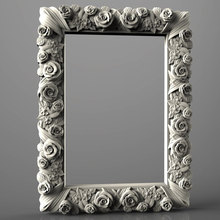 Stl-Model Engraver-Carving-Machine Cnc Router Aspire-3d for Relief-Artcam Roses-Frame-