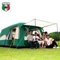 Палатка 8-12 человек Открытый Новый большое пространство Кемпинг Два палатка для спальни ультра-большой высокое качество водонепроницаемый ...