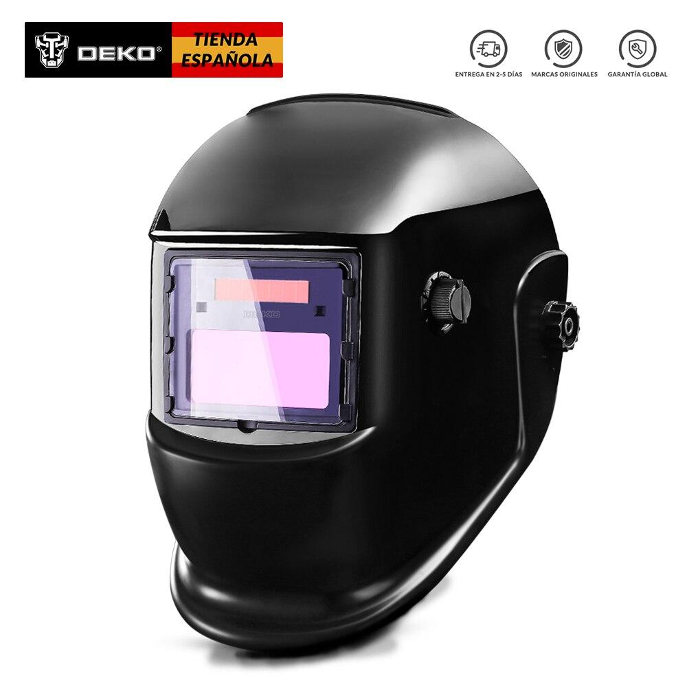 DEKO DKMZ350  Máscara de Soldadura Automática  MIG  MMA TIG  Caretas de Soldadura Filtro de Gafas   Mascarillas  de Proteccion|Welding Helmets| |  - title=