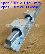 1pc SBR12 L1500mm linear guide + 2pcs SBR12UU linear bearing block cnc router 16mm linear block shafts sc16uu scs16uu cnc router diy cnc parts metal linear ball bearing pellow block linear unit shafts