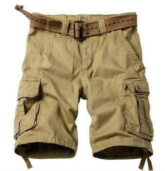 2019 New Summer Multi-pocket Camouflage Mens Shorts Casual Loose Camo Knee-length Mens Cargo Shorts plus size men
