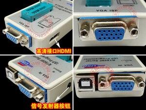 Image 4 - Бесплатная доставка 100% оригинальный новейший RT809F ЖК ISP программатор с 8 адаптерами + тестовый зажим sop8 IC + плата ICSP/кабель ISP