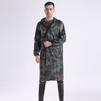 110cm Adult Camouflage Raincoat Waterproof Outdoor Rain Wear Rain Coat Poncho Household Merchandises Raincoats Home