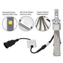 SHUOKE Hid LED Headlight N1C Cree Chip Long Life 12V 30W 6000K 6500K 2600lm HB3 9005 HB4 9006 9012 H1 H3 H4 H7 h8 H11 H16